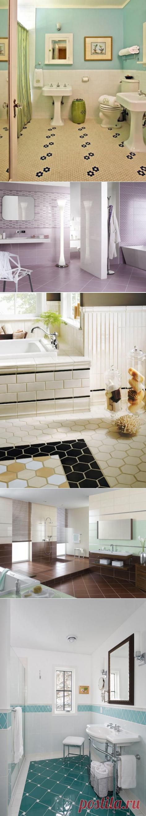 Оригинальные способы кладки плитки в ванной — Мой дом