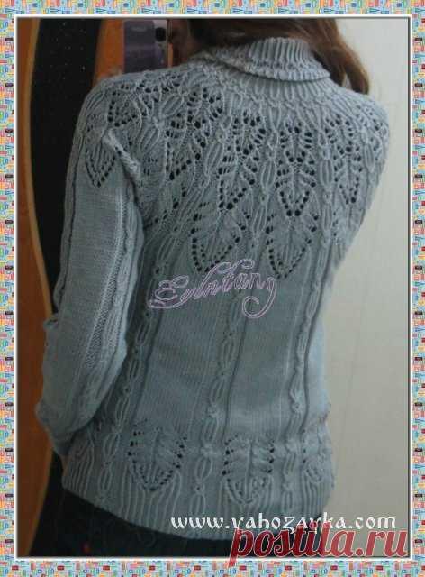 свитер с красивой кокеткой спицами схема схема вязания круглой