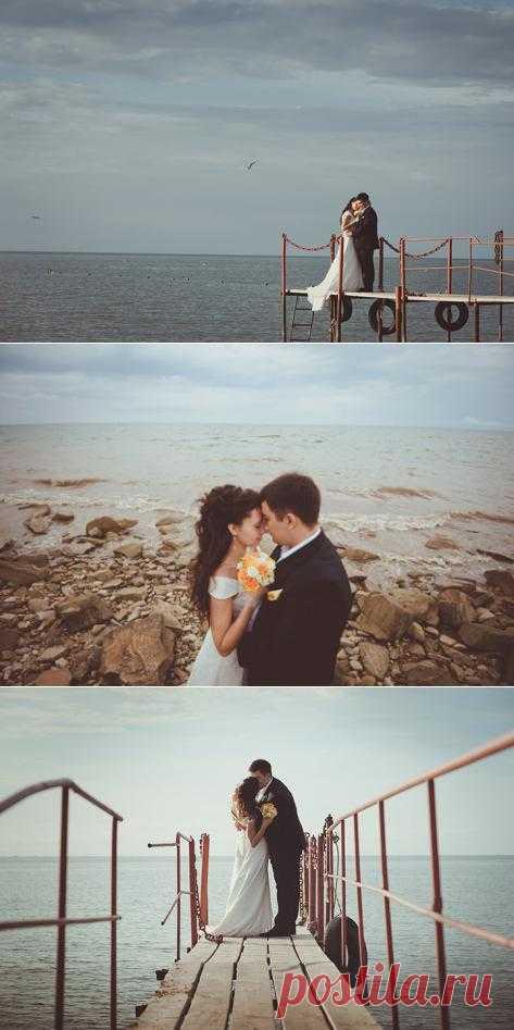 Спокойствие моря: свадьба Анны и Равиля - WeddyWood