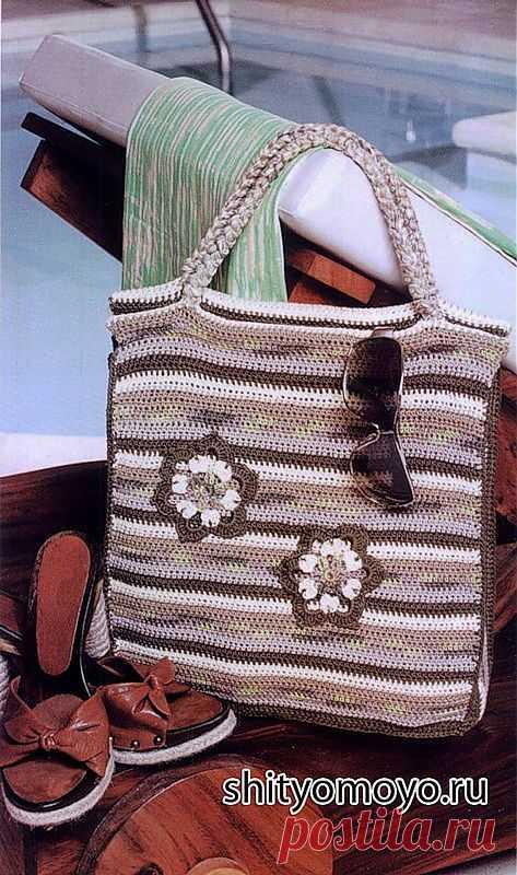 вязание бесплатные схемы и модели пляжная сумка крючкомсумки