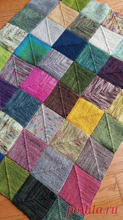 Очень простой в вязании - диагональный квадрат, а какие шикарные вещи из него получаются. Описание и примеры вязки. | Юлия Жданова | Яндекс Дзен