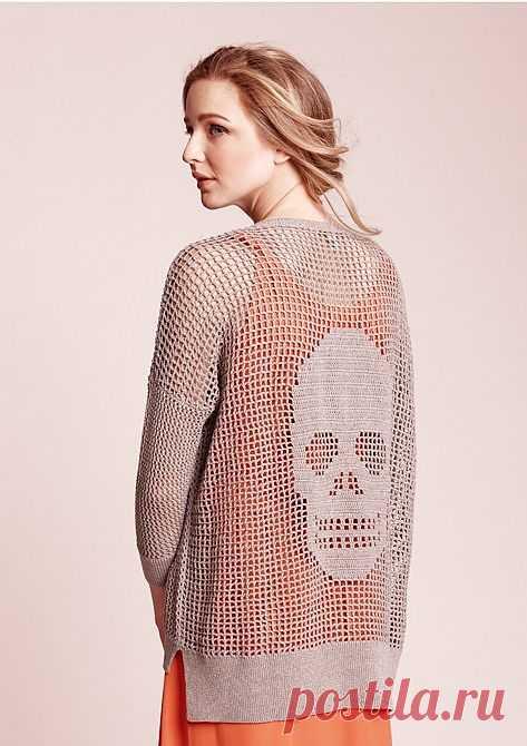Череп на спинке / Декор спины / Модный сайт о стильной переделке одежды и интерьера