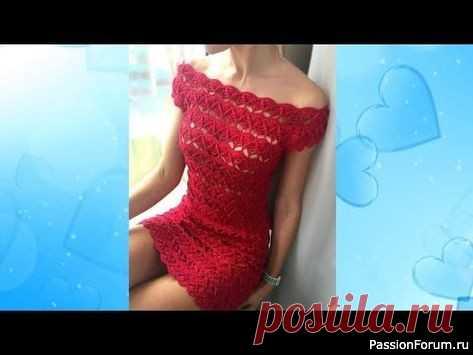 Маленькое платье. | Вязание крючком для начинающих