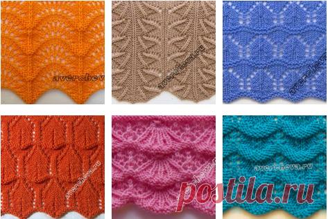 Пуловер с зубчатым узором спицами описание вязания, схемы.