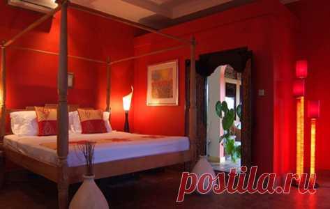 в красном цвете - спальная