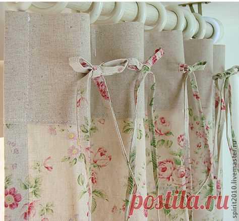 """Шторы льняные """"Марианна"""" - бледно-розовый,шторы,шторы для гостиной,шторы для спальни"""