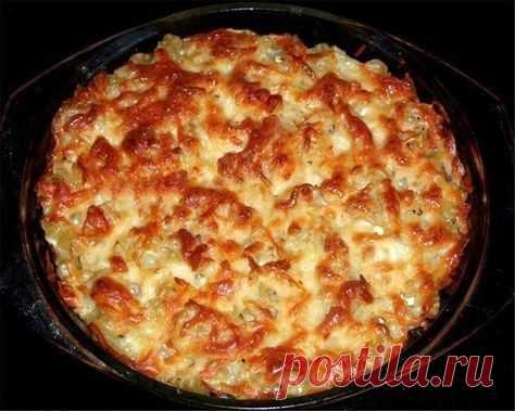Запеканка из макарон с курицей и грибами: простой и сытный ужин для всей семьи