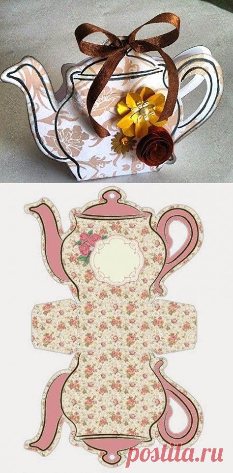 Открытки своими руками чайник