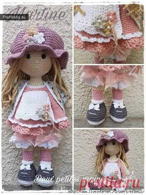 кукла мартина крючком вязание игрушек Prohobbysu вязание