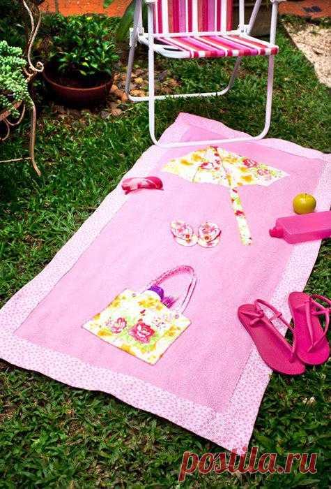 Шьем полотенце с аппликациями. МК