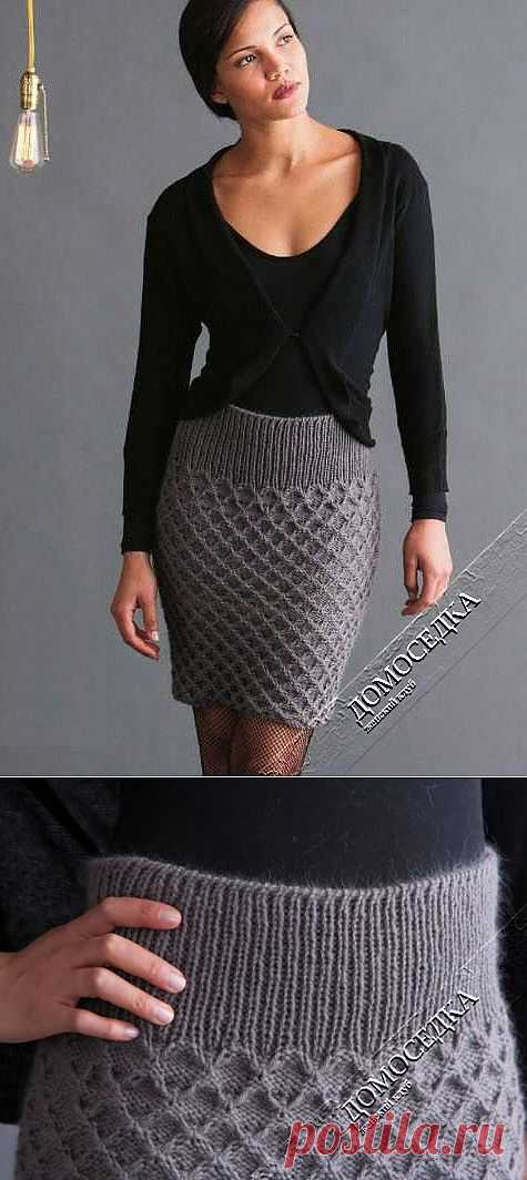 short knitted skirt | STAY-AT-HOME
