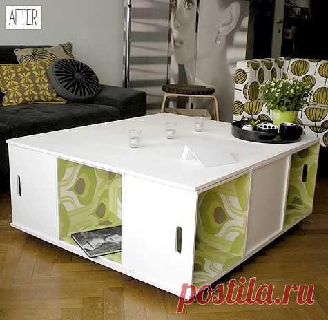 Журнальный столик из ящиков № 2 (Diy) / Мебель / Модный сайт о стильной переделке одежды и интерьера