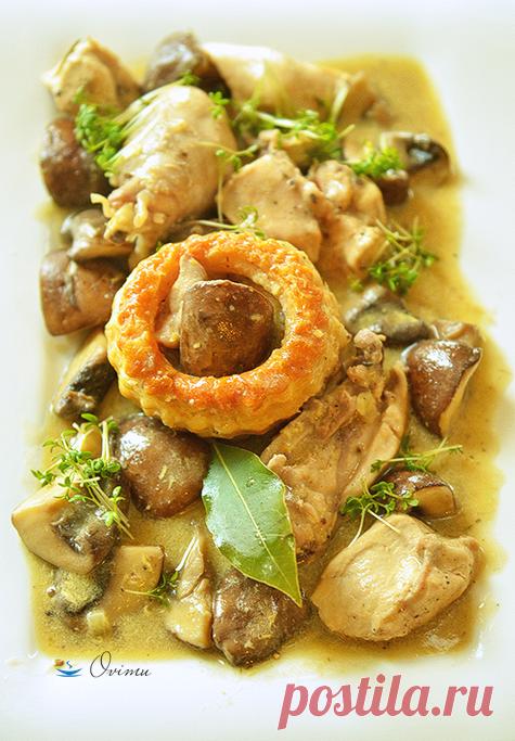 Французкая кухня. Рагу из курицы с шампиньонами | Офигенная