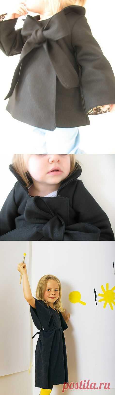Очень милое детское пальто + 3 платья / Для детей / Модный сайт о стильной переделке одежды и интерьера