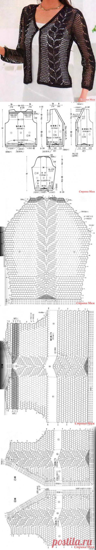 Ажурный жакет - Вязание - Страна Мам