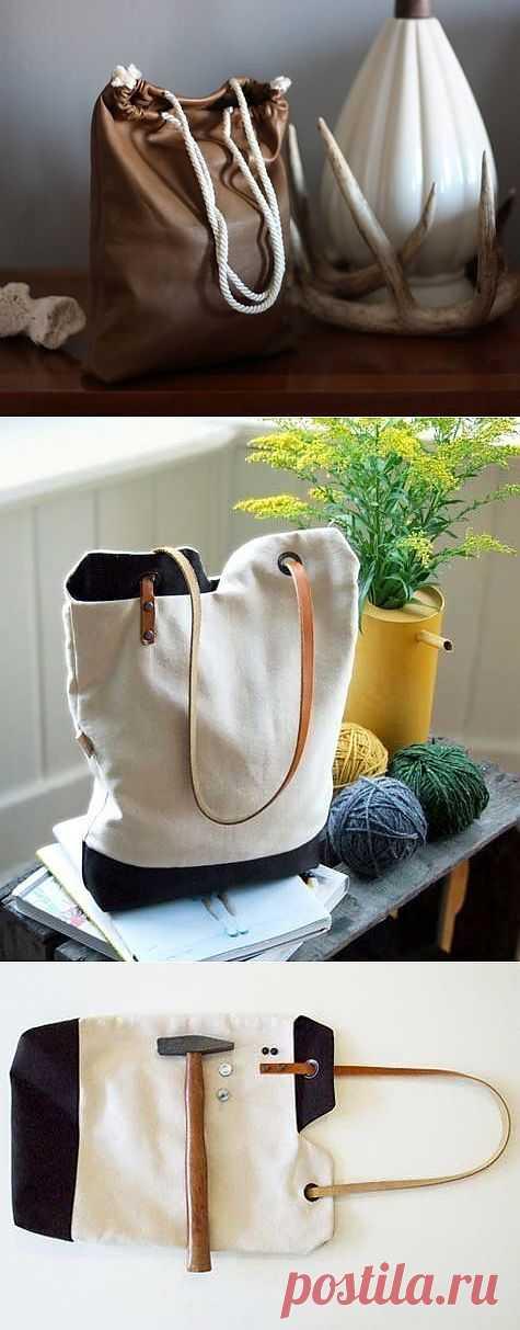 Два мастер-класса простых, но необычных сумок (Diy) / Сумки, клатчи, чемоданы / Модный сайт о стильной переделке одежды и интерьера