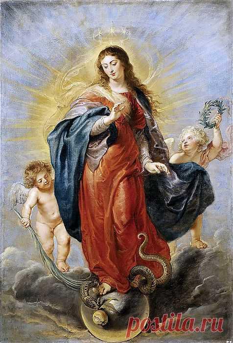 Непорочное зачатие - 1628. Питер Пауль Рубенс. Описание картины, скачать репродукцию.