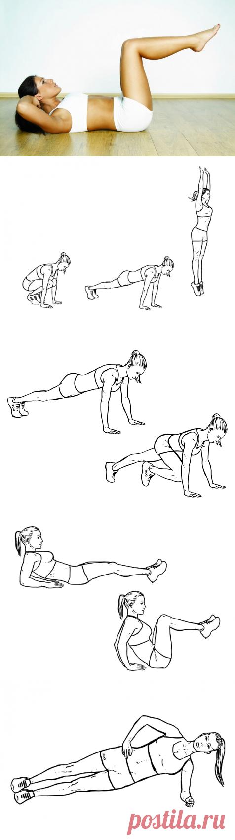 упражнения для нижнего живота в картинках деревне