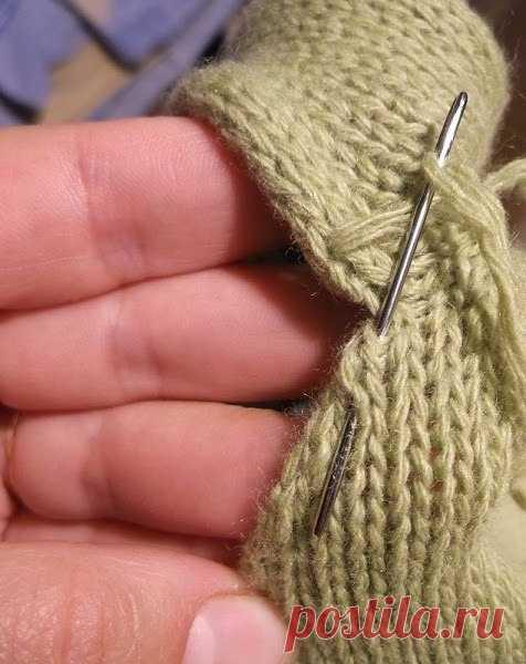 как красиво вшить рукав в вязаное изделие вяжем спицами постила