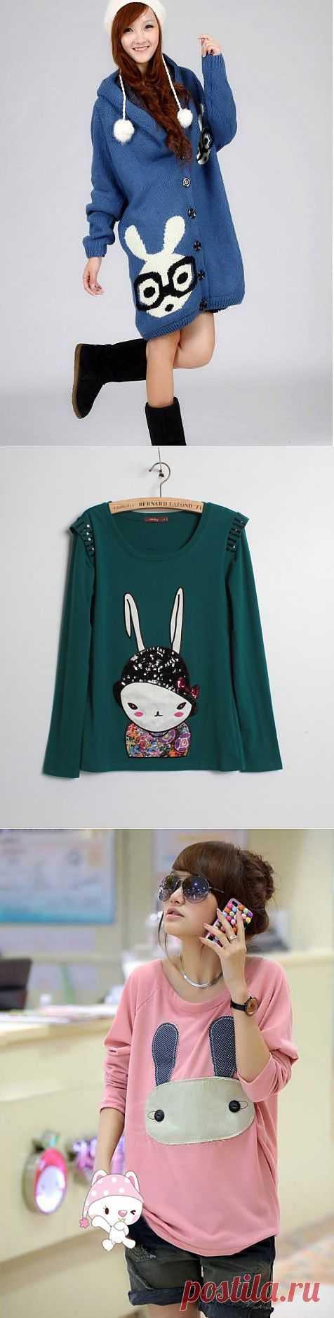 Кролики это не только ценный мех.. (подборка) / Рисунки и надписи / Модный сайт о стильной переделке одежды и интерьера