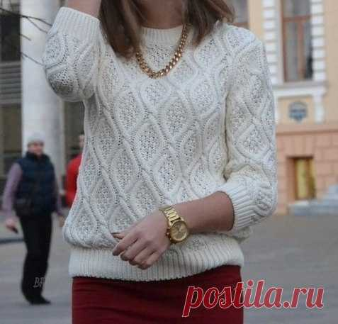 Стильный пуловер Схема узора