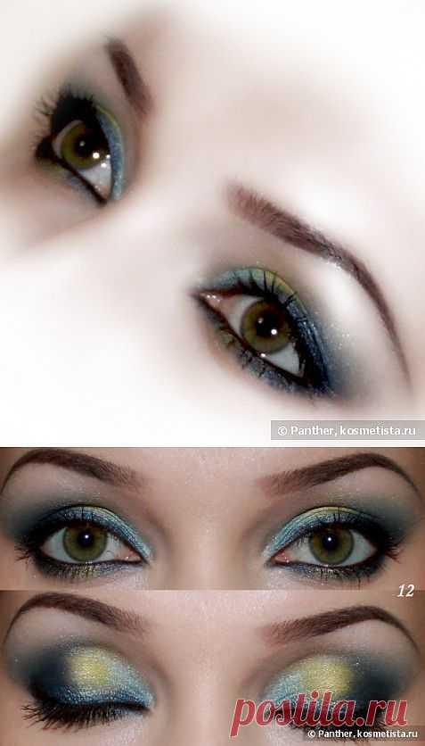 Вечерний макияж в яркой сине-голубой гамме — Отзывы о косметике — Косметиста
