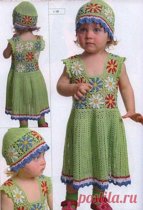 Сарафан и шапочка для 2х летней девочки.