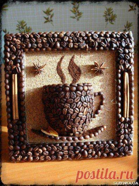 Картина из зерен кофе
