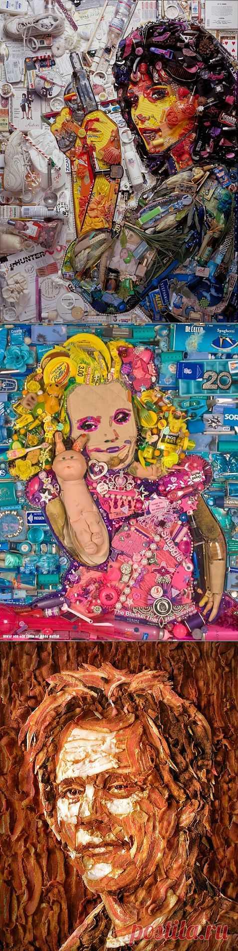 Картины из мусора Jason Mecier (подборка) / Идеи бизнеса / Модный сайт о стильной переделке одежды и интерьера