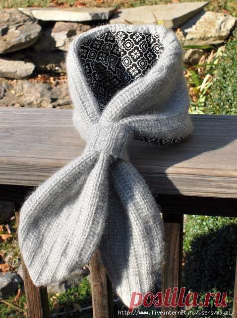 Переделка старого свитера в оригинальный дизайнерский шарф