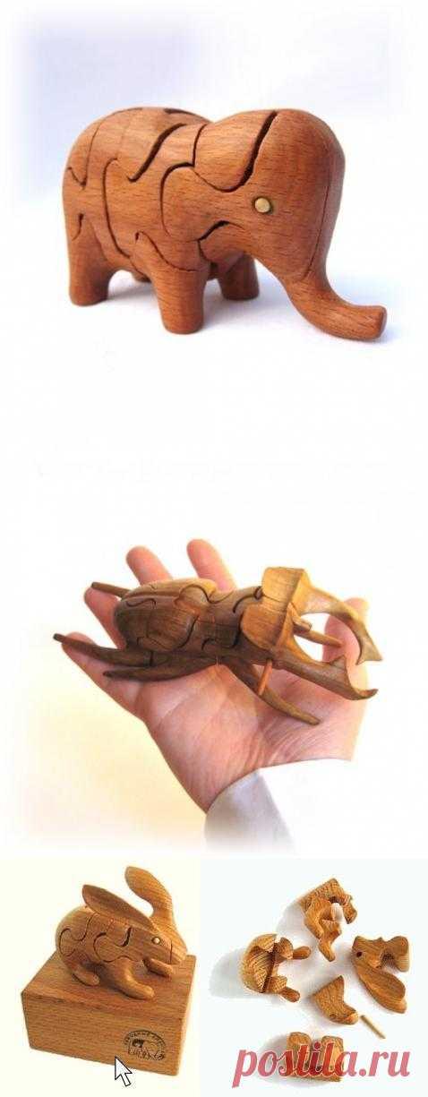 3D-пазлы из дерева | Краснодеревщик