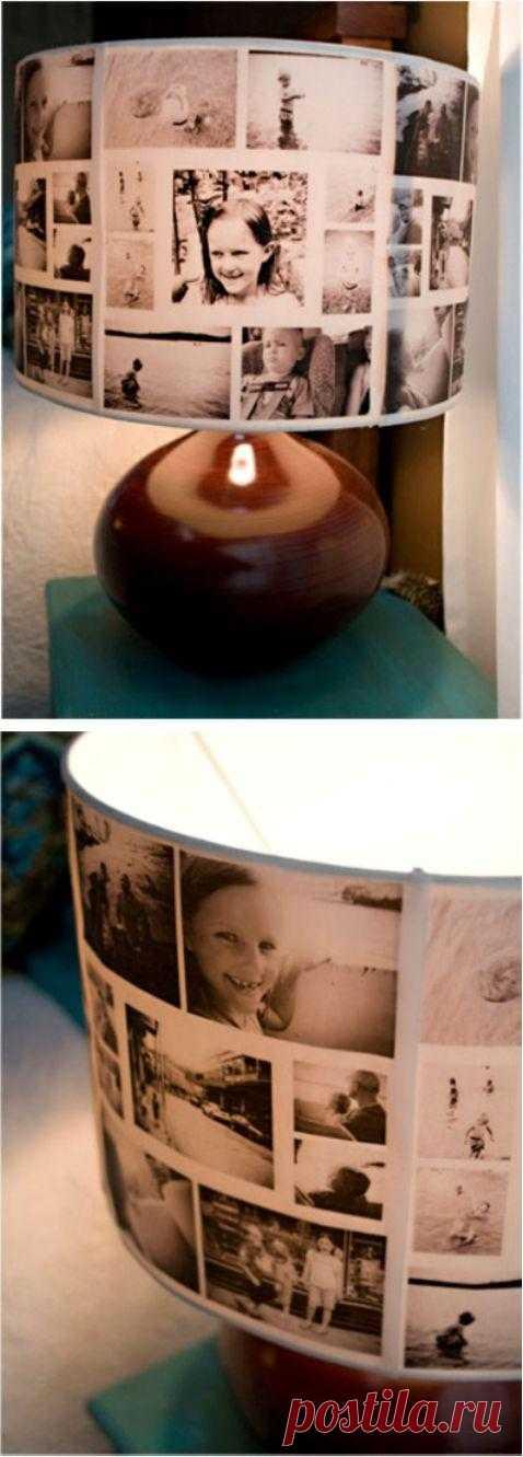 Настольная лампа своими руками из фотографий