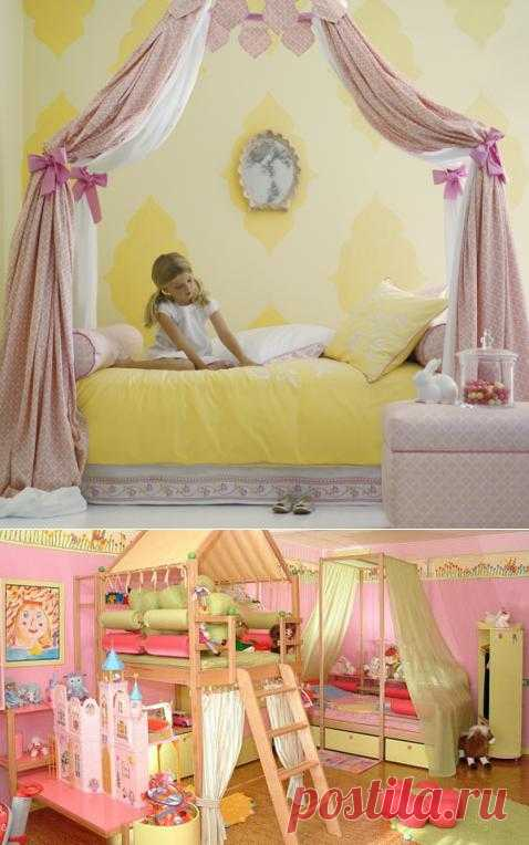 Кровать с балдахином для маленькой принцесы.