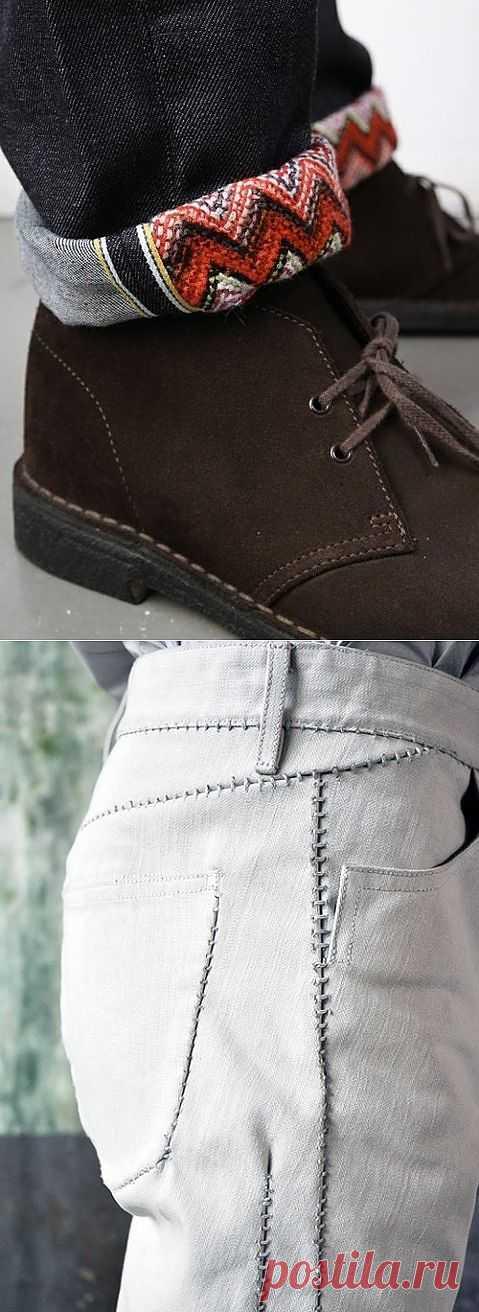 Две необычные детали декора джинсов / Переделка джинсов / Модный сайт о стильной переделке одежды и интерьера