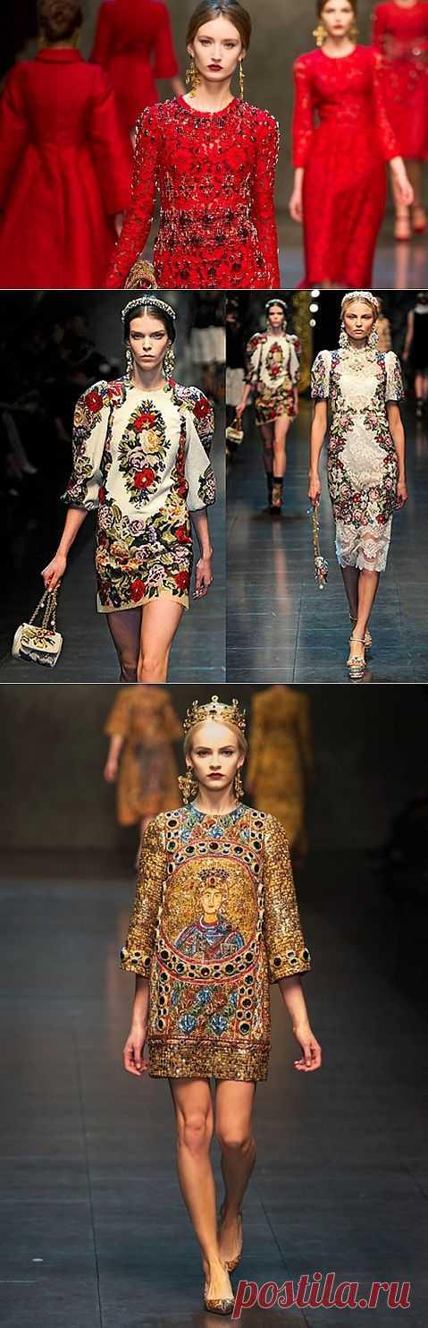(+1) - 5 самых ярких образов из коллекций Dolce Gabbana | КРАСОТА