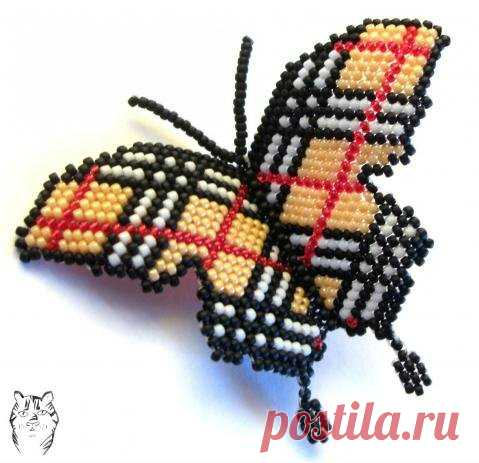 Hand-made articles from beads. Butterflies \/ Schemes of weaving by beads, flowers and trees from beads, toys the hands - masterklassa, a macrame, frivolita \/ Yozhka - verses, riddles, creativity and lessons of drawing for children