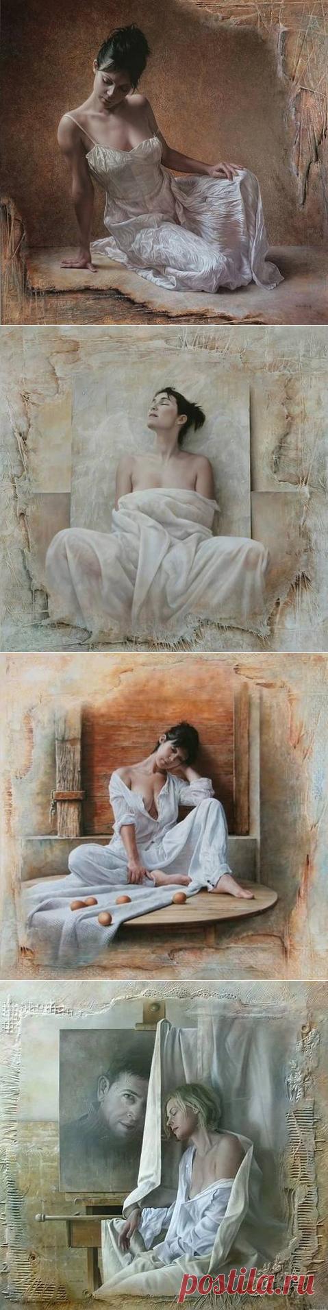 Женская красота в работах художника Pascal Chove .