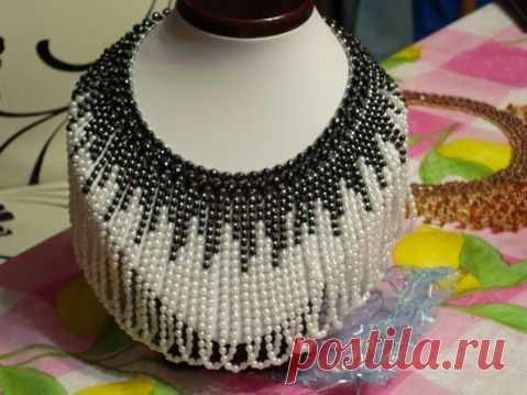 И меня вдохновил Картье | Бисероплетение. Колье. | Beads, Bead necklaces and Beadwork