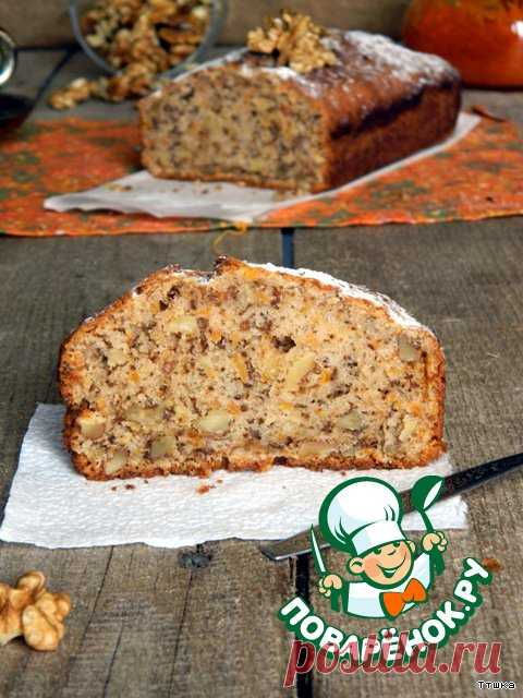 El bizcocho con pasas con la calabaza, la zanahoria y las nueces - la receta de cocina