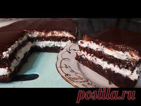 За 20 минут ПОТРЯСЯЮЩИЙ ТОРТ к чаю из 3х ингредиентов сметут мгновенно  Simple Chocolate Cake Recipe
