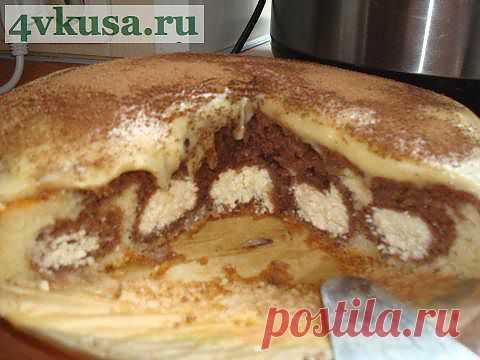 Шоколадно-творожный пирог   4vkusa.ru