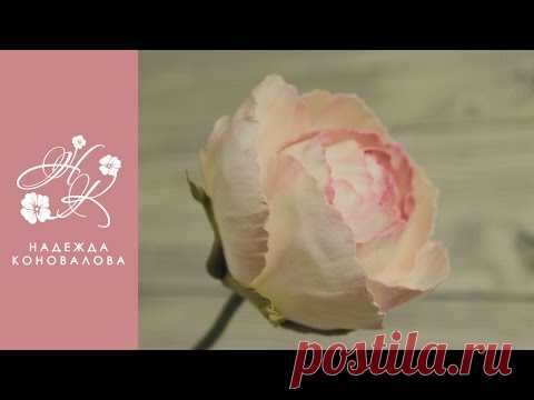 Flowers from a foamiran - how to make Dolche Vita's rose of a foamiran - YouTube