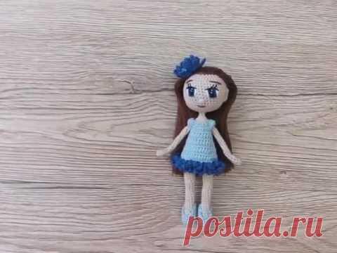 Каркасная кукла амигуруми: Василёк от Katkarmela