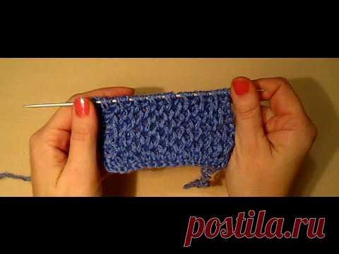 УЗОР СОТЫ! ВЯЗАНИЕ СПИЦАМИ!Вязание для начинающих.knitting Распространенная вязка спицами