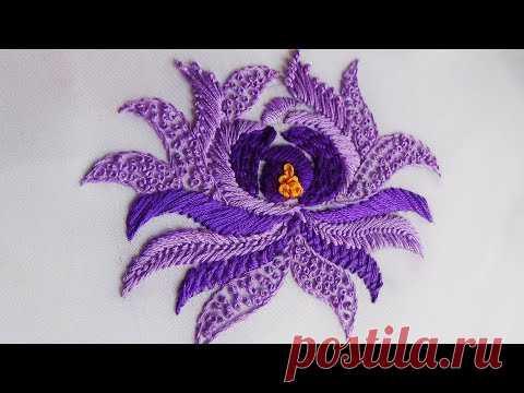 Hand Embroidery: 5 Stitches Flower Embroidery
