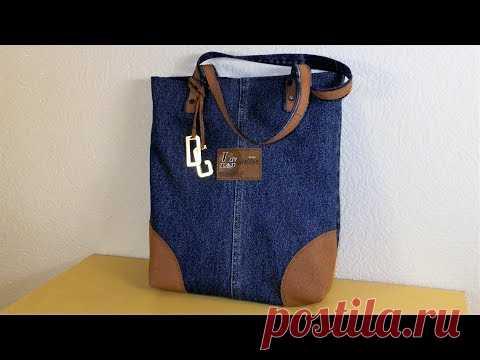 73b20be2f942 джинсовая сумка своими руками сшить дома уроки шитья мастер класс ...