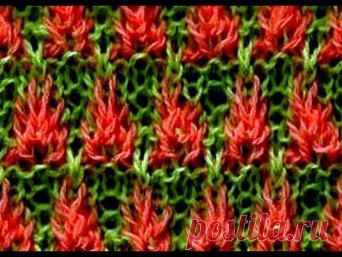 Como Tejer Flores de Fuego 2a. Parte Fire Flowers 2 Agujas (268)