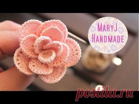 копия видео вязаные крючком красивые цветы Crochet Beautiful Flower