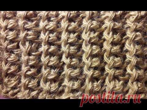 Американская резинка спицами. Knitting gum