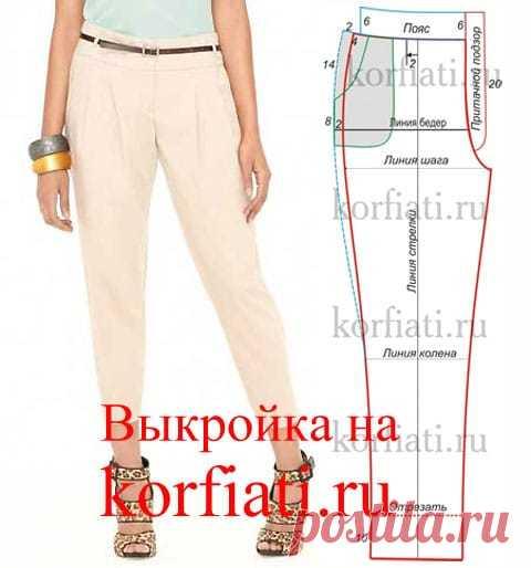 Выкройка брюк бананы от Анастасии Корфиати